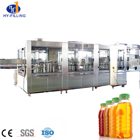 3in1 juce filling machine line, fruit juice drink making machinrine, juice bottle filling and cap machine