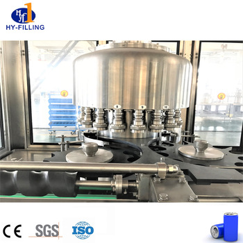 Automatic can beer filling machine canning line from Hy-filling